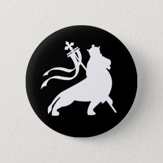 lion (white on black) 2 inch round button