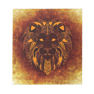 Lion wild animal abstract notepad