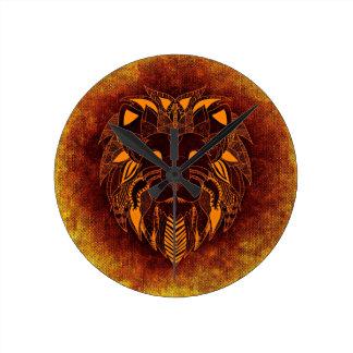 Lion wild animal abstract round clock