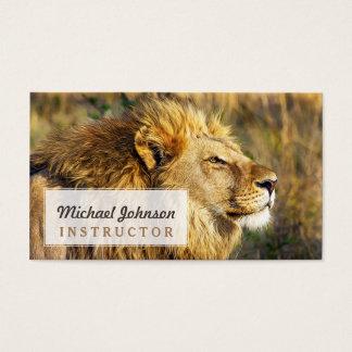Lion Wild Animal Wildlife Safari Business Card
