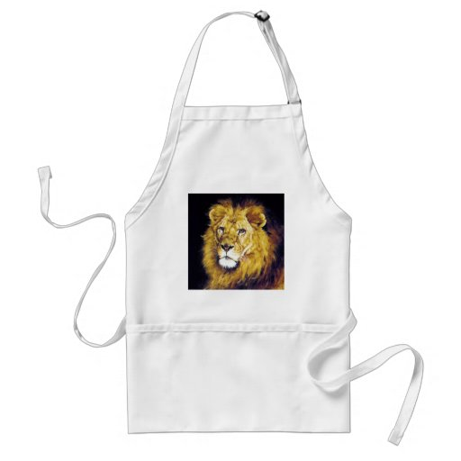 Lion wild cat proud strong regal apron