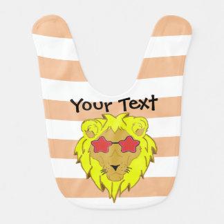 Lion with glasses customizer bib