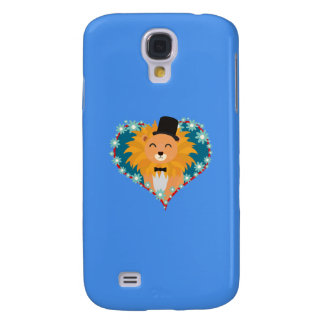 Lion with hat in flower heart Q1Q