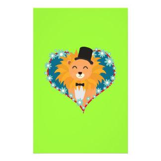 Lion with hat in flower heart Zdjpd Flyer