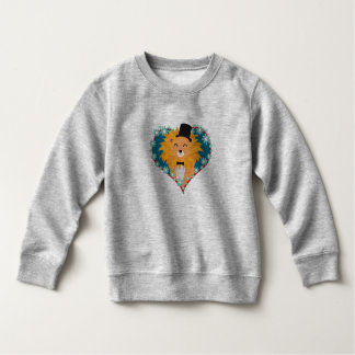 Lion with hat in flower heart Zdjpd Sweatshirt