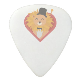 Lion with Hat in heart Zjrz1 Acetal Guitar Pick