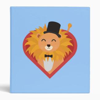 Lion with Hat in heart Zjrz1 Binder
