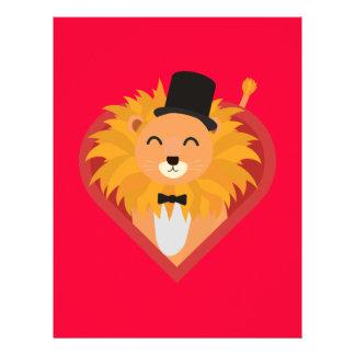 Lion with Hat in heart Zjrz1 Flyer