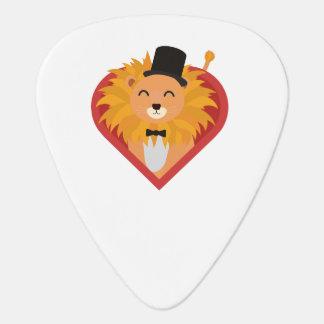 Lion with Hat in heart Zjrz1 Guitar Pick