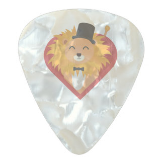 Lion with Hat in heart Zjrz1 Pearl Celluloid Guitar Pick