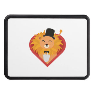 Lion with Hat in heart Zjrz1 Trailer Hitch Cover