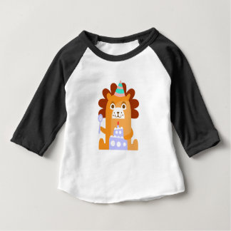 Lion With Party Attributes Girly Stylized Funky Baby T-Shirt