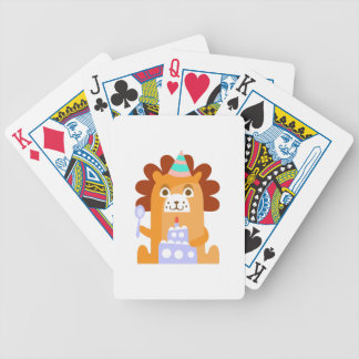 Lion With Party Attributes Girly Stylized Funky Bicycle Playing Cards