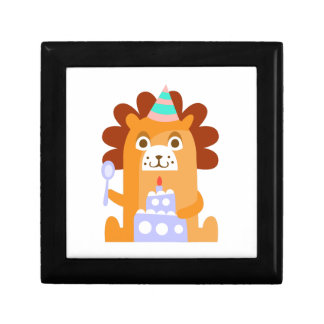 Lion With Party Attributes Girly Stylized Funky Gift Box