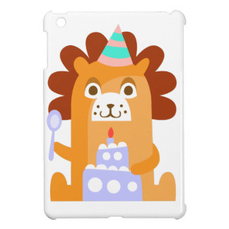 Lion With Party Attributes Girly Stylized Funky iPad Mini Case