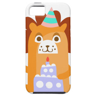 Lion With Party Attributes Girly Stylized Funky iPhone 5 Case