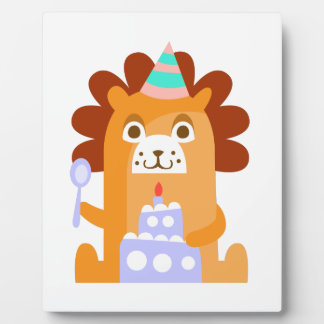 Lion With Party Attributes Girly Stylized Funky Plaque