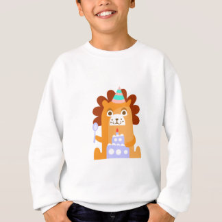 Lion With Party Attributes Girly Stylized Funky Sweatshirt