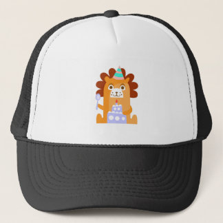 Lion With Party Attributes Girly Stylized Funky Trucker Hat