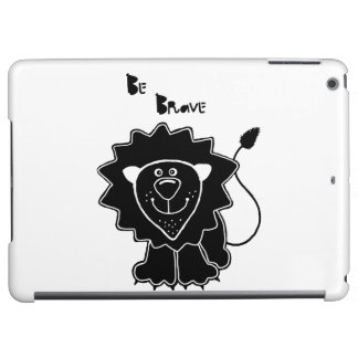 Lion with quote iPad air case