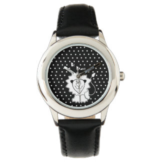 Lion with quote watch
