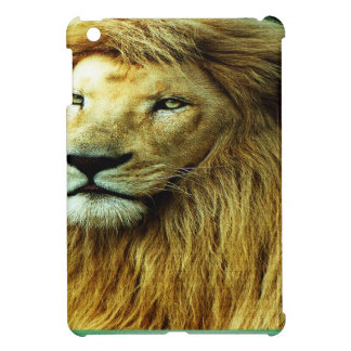 Lion With Rainbow Border Cover For The iPad Mini