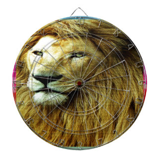 Lion With Rainbow Border Dartboard