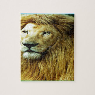 Lion With Rainbow Border Jigsaw Puzzle