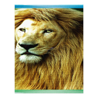 Lion With Rainbow Border Letterhead