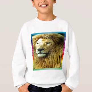 Lion With Rainbow Border Sweatshirt