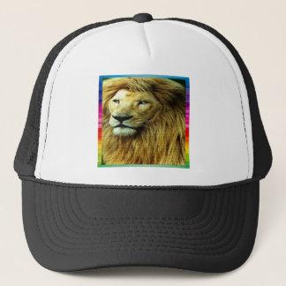 Lion With Rainbow Border Trucker Hat