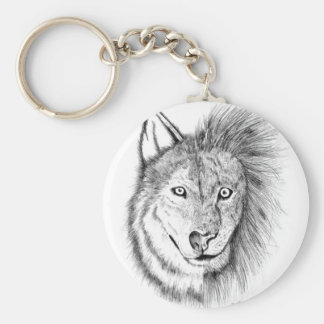 Lion Wolf Keychain