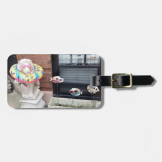 Lionel's day at the beach luggage tag