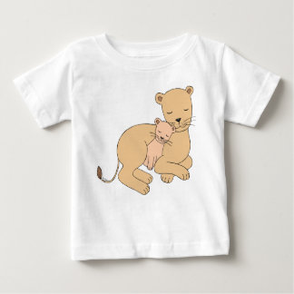Lioness and cub Cute Lion Mom Baby T-shirt for kid