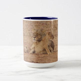 Lioness and Cub Mug