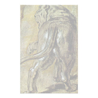 Lioness By Rubens Peter Paul (Best Quality) Custom Stationery