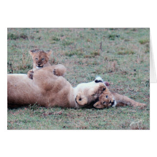 Lioness & Cubs Greeting Card