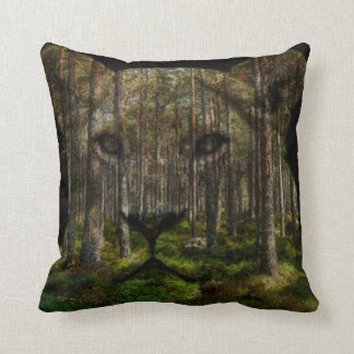 Lioness forest merge throw pillow