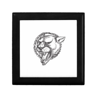 Lioness Growling Rope Circle Tattoo Gift Box