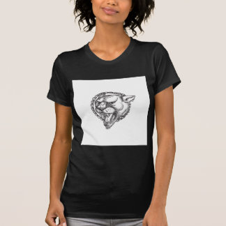 Lioness Growling Rope Circle Tattoo T-Shirt
