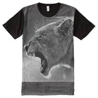 Lioness-Howl-brave, sincere maternal love All-Over-Print T-Shirt