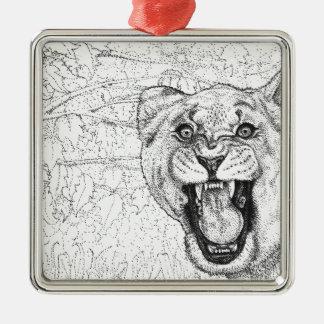 Lioness Metal Ornament