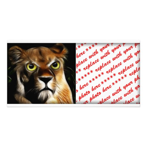 Lioness on Watch Photo Card Template