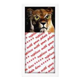 Lioness on Watch Custom Photo Card