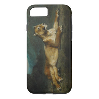 Lioness reclining, c.1855 (oil on panel) iPhone 7 case