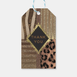 Lioness Safari Chic Jungle Glam Modern Favor Gift Tags