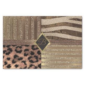 Lioness Safari Jungle Glam Modern Gold Sparkle Tissue Paper