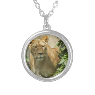 Lioness Silver Plated Necklace