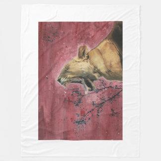 Lioness Yawn Blanket