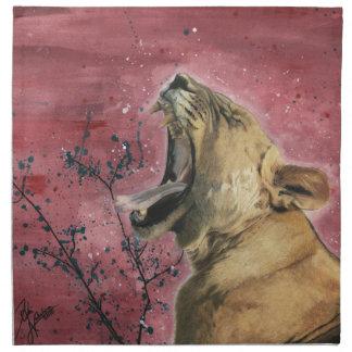 Lioness Yawn Napkin